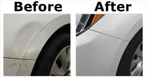 Before and After Dent Removal